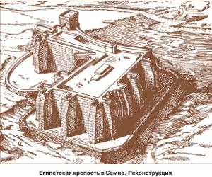 Египетская крепость в Семнэ. Реконструкция
