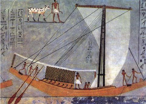Большой корабль времен Древнего царства