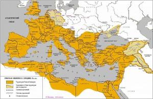 Восточная Римская империи-карта