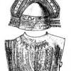 Виллановский шлем с гребнем и бронзовые латы.