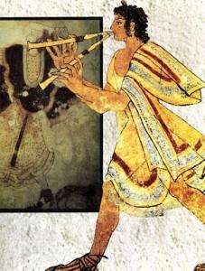 Гробница леопардов, Тарквиния, начало V в. До н. э