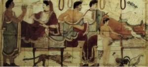 Копия живописи захоронения Триклиния и Кверчьола