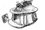 Погребальная урна в виде хижины