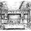 Интерьер гробницы Рельфов, в Черветери.