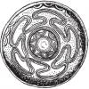 Блюдо с меандровым орнаментом (глина, графит). Эшенфельден.
