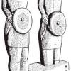 В Северной Португалии обнаружены и статуи вооруженных воинов, которые, вероятно, тоже играли роль оберегов.