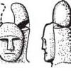 Реконструкция «рогов» или «короны из листьев» каменной статуи из Хольцгерлингена