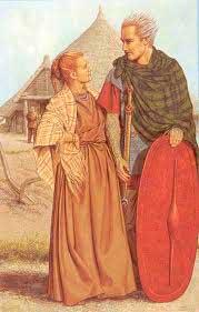Реконструкция внешнего вида кельтов среднелатенского времени. Кельтский музей в Зальцбурге.