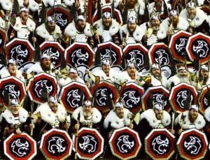 костюмированные свебские воины