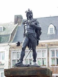 Памятник Амбиоригу в Тонгерене (Бельгия)