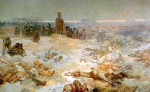 Август после тяжелейшего поражения римлян в Тевтобурском лесу.