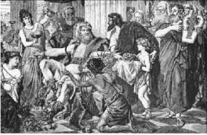 Аларих-триумфатор на развалинах Рима с картины Людвига Тирша