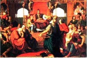 При доре Атиллы. Атилла принимает послов и щедрые дары