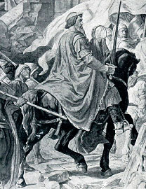 Альфред Ретель Въезд Карла Великого в Павию. Фреска ратуши в Аахене