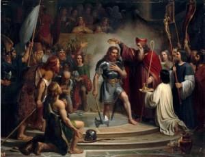 Франсуа-Луи Арди Дежюинь - Крещение Хлодвига в Реймсе в 496 году