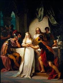 Вортигерн и Ровена. Картина английского художника Джона Гамильтона Мортимера.