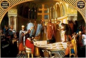 Совет в королевском дворце вестготов в Толедо.