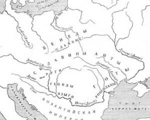 Расселение славян в VI в.  н.  э.