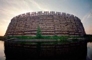 Реконструирукция славянской крепости в Гросс-Радене