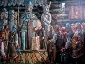 Гадание балтийских славян перед битвой.