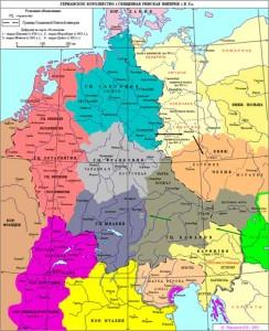 Образование германцами марок на славянских землях в IX-Х веках