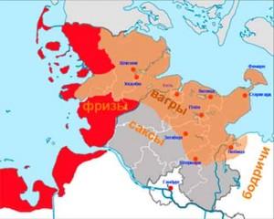 Предполагаемая область расселения вагров в начале IX века