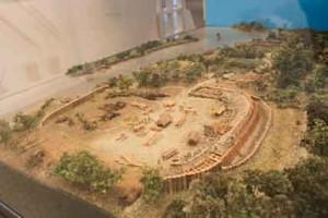 Крепость Гаммабург IX века, макет в экспозиции городского музея Гамбурга.