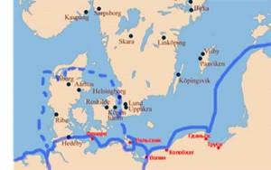 О торговых связях руян свидетельствуют кабатажные  перевозки купцов Ральсвика и Волина.