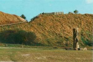 Валы высотой до 13 м, которые когда-то отделяли известный славянский храмовый город  от остальной части острова.