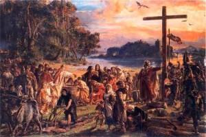 Ян Матейко « Крещение Польши»
