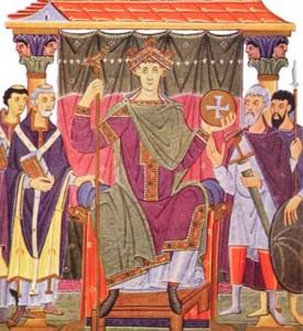 Оттон III в окружении своей свиты в 1000 г.