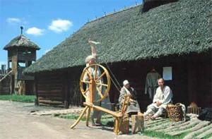 Укрепленное поселение в Бискупине.