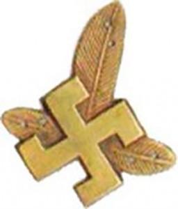В польской армии свастика использовалась в эмблеме на воротниках Подхалянских стрелков.