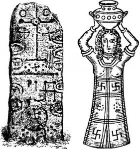 Свастика на Финикийском символе солнца.