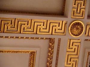 Фрагменты потолка в Георгиевском (Большом Тронном) зале Зимнего Дворца