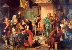 Пленные Кейстут и Витовт перед Ягайло.