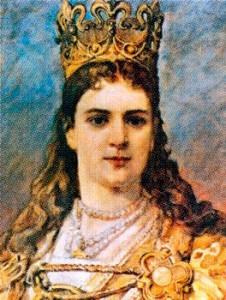 Ядвига Анжуйская (около 1373-1399), первая женщина на польском троне.