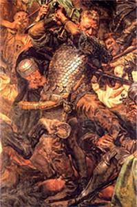 """Я. Матейко. """"Грюнвальдская битва"""". Фрагмент. Ян Жижка."""
